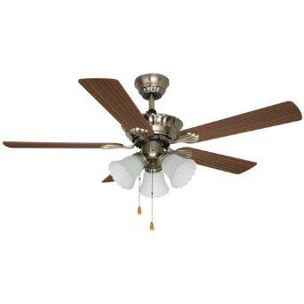 "Aloha Breeze 42"" Ceiling Fan with Light #49003 Antique Brass"