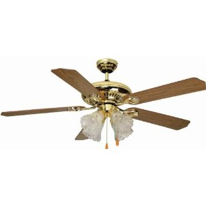 Aloha Breeze Bright Brass 52 Inch Ceiling Fan