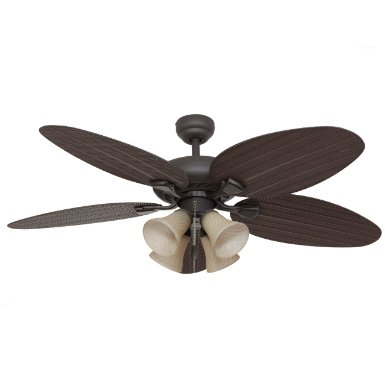 Calcutta 50106 52-Inch Key Largo 4-Light Bronze Ceiling Fan, Medium Brown Fan Blades