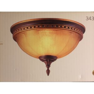 Hampton Bay Flush Mount Light Fixture