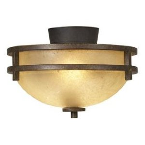 Mission Rust Pull-Chain Ceiling Fan Light Kit