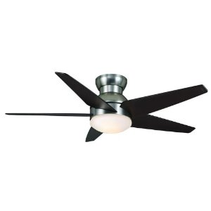Casablanca Isotope Brushed Nickel Flush Fan