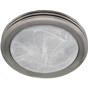 Hunter Decorative Brushed Nickel Bathroom Fan
